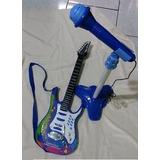 Guitarra Infantil Com Pedestal E Microfone Chiquititas