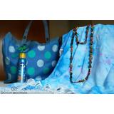 Canga Artesanal Azul Com Franjas Brancas