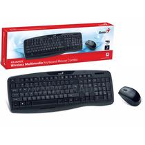 Kit Teclado + Mouse Kb-8000x Inalambrico Smart Tv Envio