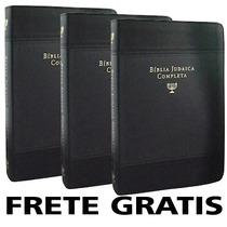 Kit 3 Biblia Judaica Completa Capa Couro Dr. David H. Stern