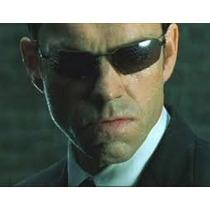Óculos Agent Smith Matrix Preto Lentes Policarbonato