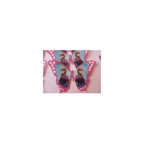 Paquete 15 Mariposas De Oblea Comestible Imagen Frozen