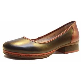 Zapato Chatita De Cuero De Mujer, Diseño Exclusivo - At0002