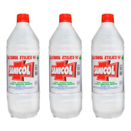3 Botellas De Alcohol - Sanicol 1000ml C/u