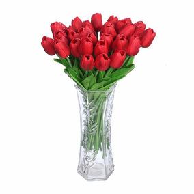 Tulipanes Artificiales Decoración Flores Hogar Centro Mesa