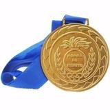 Medalha Honra Ao Mérito 43mm Com Fita Ouro Prata Bronze