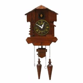 Reloj Cucu De Madera Tipo Antiguo De Pared Musical C Pendulo