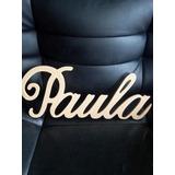 Letras En Mdf Paula