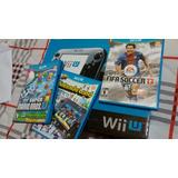 Nintendo Wii U 32 Gb Con Tres Juegos Originales