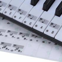 Adesivo Teclado 49/61 Eletrônico Piano 88 Teclas Brancas