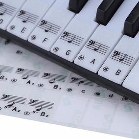 Adesivo Teclado Eletrônico Piano Iniciantes Teclas Brancas