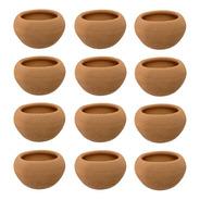 12 Macetas Mini Barro Suculentas Cactus Chica Decoracion Jar