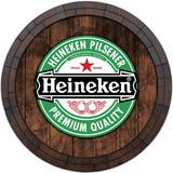Quadro Tampa De Barril Cerveja Whisky - Heineken1