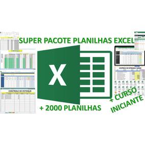 Pacote Planilhas Excel Editáveis + Curso P/ Iniciantes