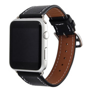 Pulseira Couro Estilo Hermes P/ Apple Watch 42/44mm - Preta