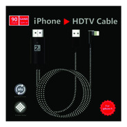 Cable Adaptador iPhone Lightning A Hdmi Hdtv 2mts 90° Gamer
