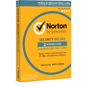 Norton Security Deluxe 2017 - 3 Dispositivos 1año