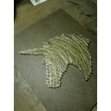 Cuadro Artesanal Hilos Y Clavos Unicornio 30x25cm Deco