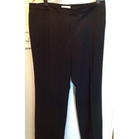 Pantalon Vestir Traje Calvin Klein Original Negro T12-42