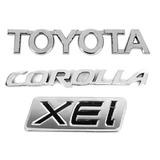 Kit Emblema Letreiro Mala Toyota Corolla Xei 09 10 11 12 13
