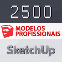 Blocos Sketchup Vray 2500 Modelos Pro Biblioteca 3d Arq Deco