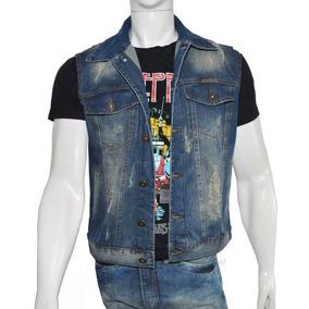Colete Jeans Masculino Com 6 Bolsos Tamanhos P, M, G, Gg