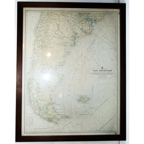 Cuadro Argentina Mapa Antiguo Impecable -antig La Rueda - Lr