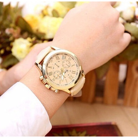 Relógio Feminino De Luxo Casual Social Importado Couro