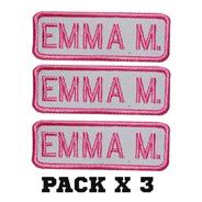 Parche Nombre Bordado Empresa Colegio Colores Pack X 3