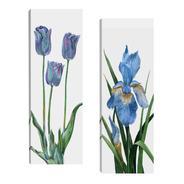 Quadro Para Sala Quarto Escadas Par 20x60 Floral