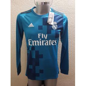 Nuevo Jersey Playera Real Madrid 2018 Tercer Kit Manga Larga