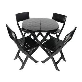 Kit Jogo Mesa Cadeira Dobrável Plastico Resistente+ Brinde