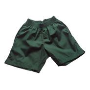 Short Verde Uniforme Escolar Talle S Al L