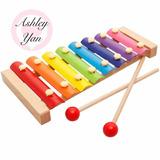 5 Pcs Xilófono Infantil Marimba Madera Arcoíris Didáctico