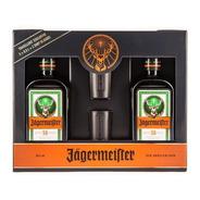 Jagermeister Twin Pack 2 Botellas 500ml  + 2 Shots  Estuche