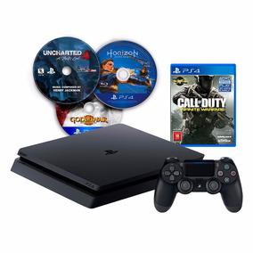 Playstation 4 Ps4 Slim Nuevo + 4 Juegos Cod Hzd U4 Gow Loi