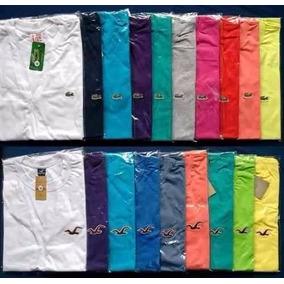 Kit 20 Camisetas Camisas Com Bordadinho Marcas Famosas