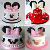 Torta Minnie 16 Porciones Maquetas Cupcakes Cakepops Oreopop