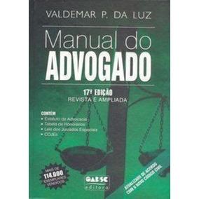 Livro Manual Do Advogado Valdemar Pereira Da Luz