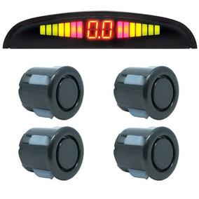 Sensor De Ré Estacionamento 4 Sensores Led Universal Preto