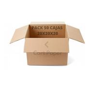 Cajas De Cartón 20x20x20/ Pack 50 Cajas / Cart Paper