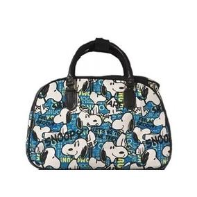 Bolsa Mala De Mão Feminina Viagem Snoopy Cachorro Azul Dog 7b3d0b1510e