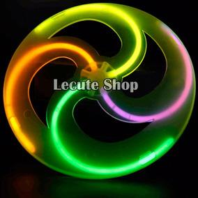 Frisbee Luminoso Neon Fiesta Regalo Cyalume Glow Stick Disc