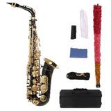 Saxofon Alto Color Negro Marca Ammoon-envio Mismo Dia De Com
