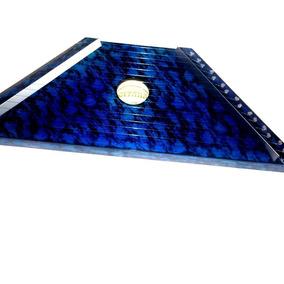 Cítara Azul Nova Na Caixa Acompanha 10 Partituras Grátis