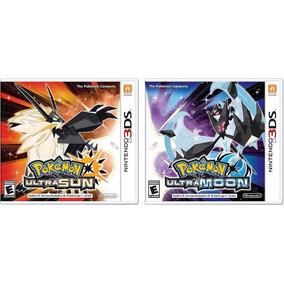 Pokemon Ultra Sun + Ultra Moon Nintendo 3ds Mídia Física