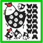 Adesivo Decorativo Geladeira Parede Cozinha Galinha Pintinho