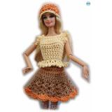 A Pedido Conjuntos Ropa Barbie Crochet Accesorios Polleras