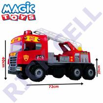 Caminhão Som E Luz Super Bombeiro Resgate - Magic Toys