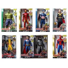 4 Vingadores Boneco Marvel The Avengers 30 Cm Luz E Som